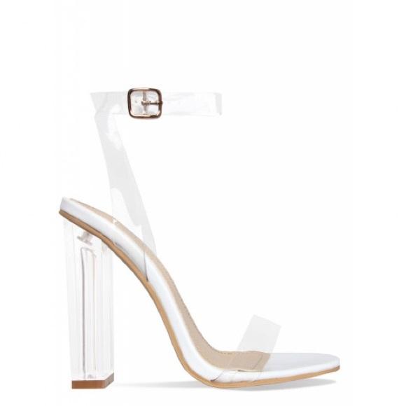 e02fd757ef1 Shoes | Clear Block Heels | Poshmark